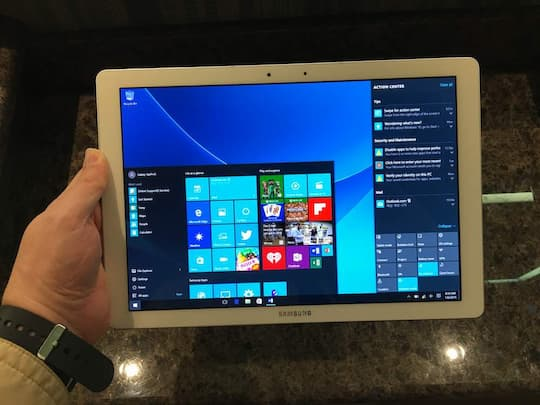 Samsungs Tablet mit Windows 10 kurz ausprobiert