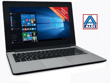 aldi 2 in 1 laptop mit windows 10 f r unter 300 euro. Black Bedroom Furniture Sets. Home Design Ideas