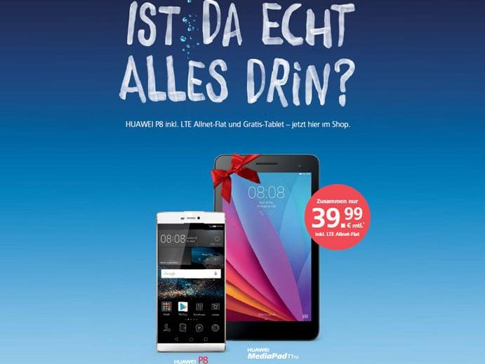 Huawei P8 Und Huawei Mediapad Für 1 Euro Zuzahlung Zum O2 Vertrag
