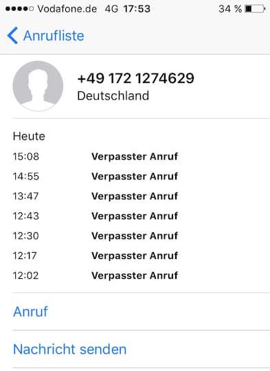 Anrufe Von Vodafone