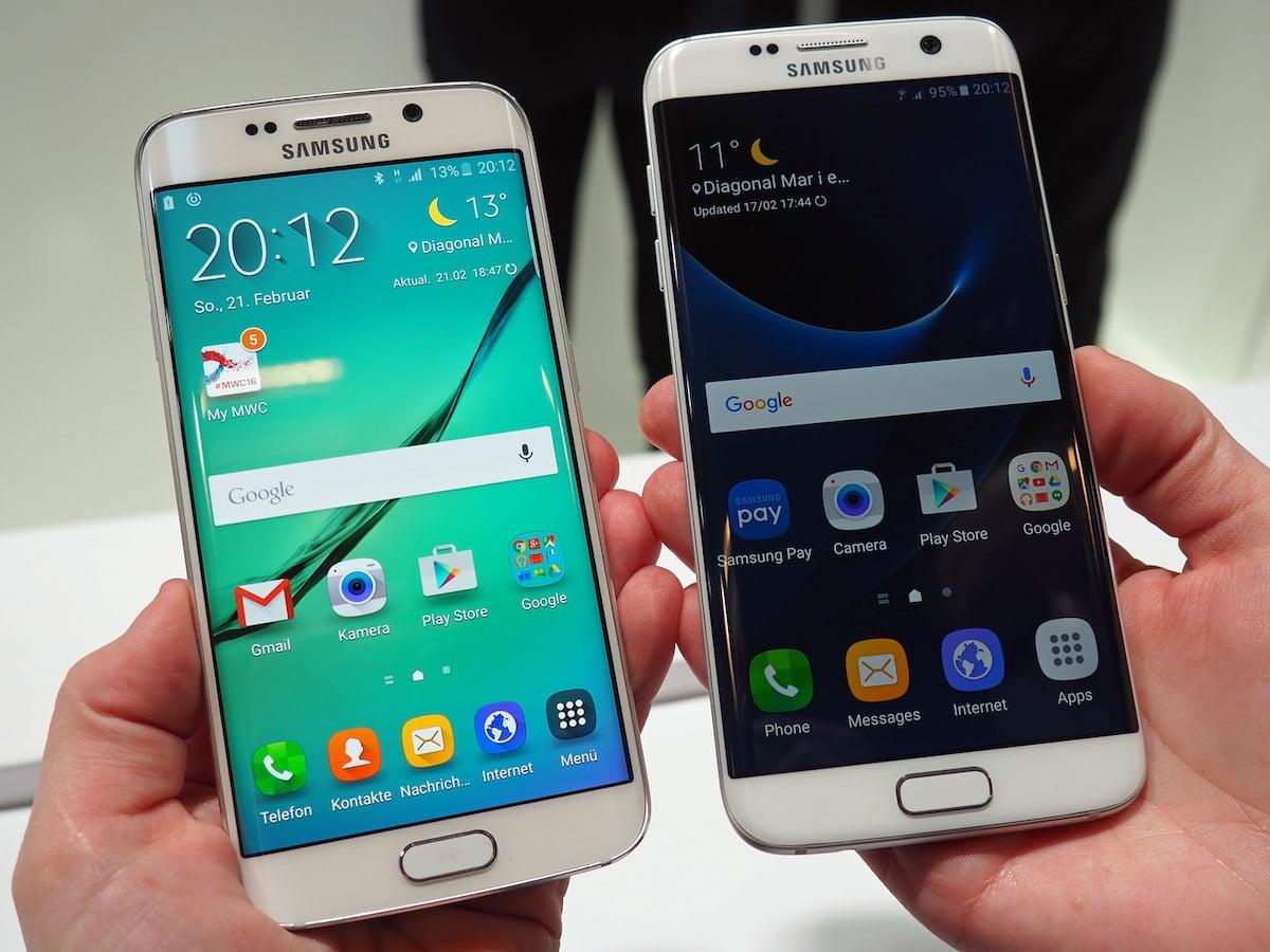 Galaxy S6 S7 Altes Und Neues Flaggschiff Im Vergleich Teltarif Samsung Edge News