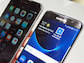 Samsung Galaxy S7 Edge und Apple iPhone 6S Plus im Display-Vergleich