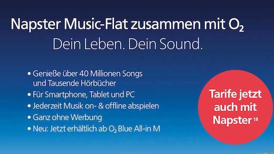 O2 5 Euro Sparen Oder Napster Music Flat Teltarifde News
