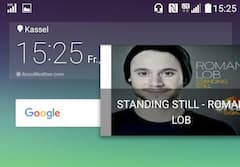 Homescreen mit Digitalradio-Empfang