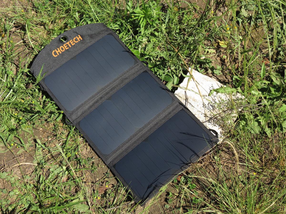choetech solar ladeger t im test l dt die sonne das. Black Bedroom Furniture Sets. Home Design Ideas