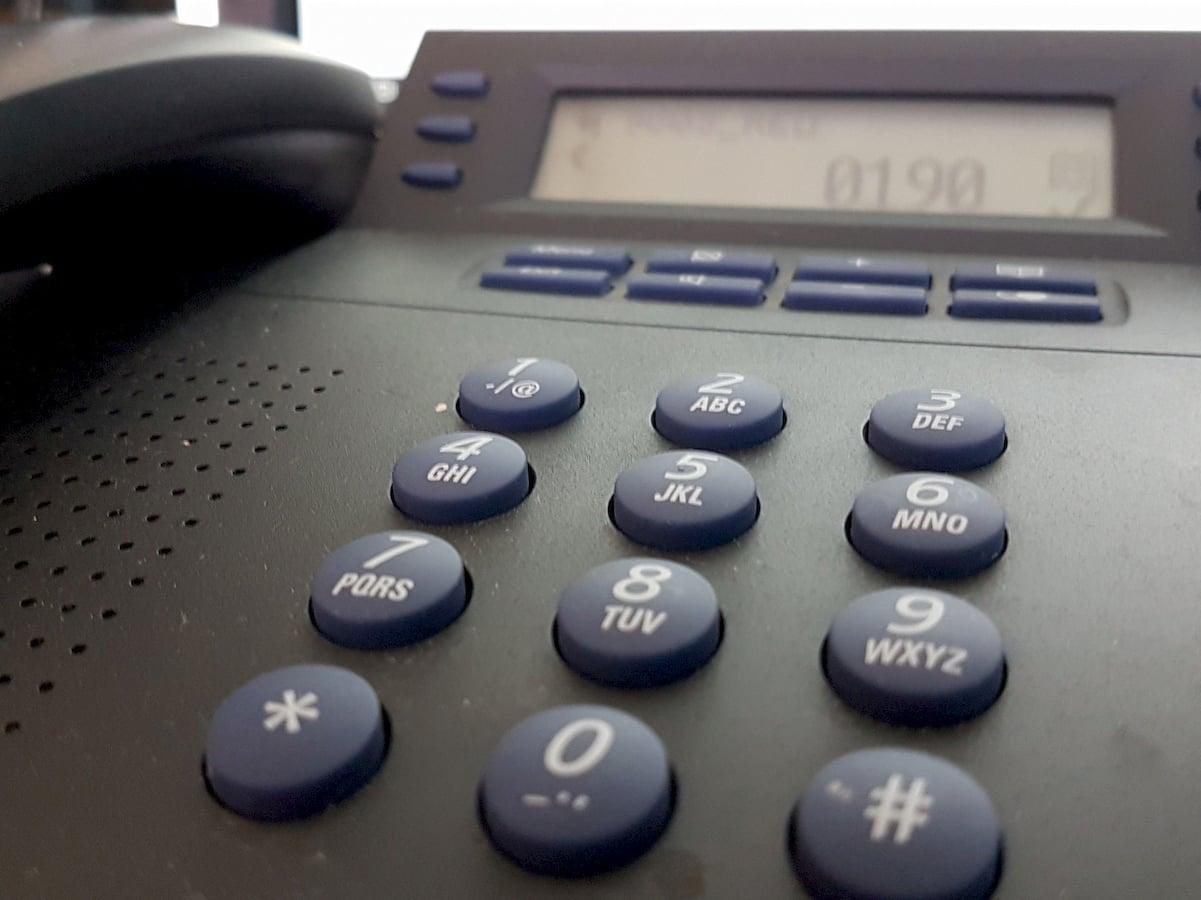Telefon-Haken-Notruf
