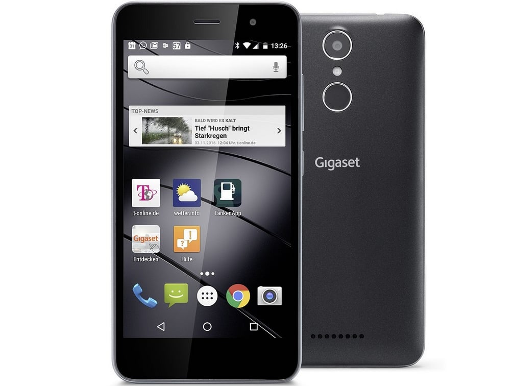 Gigaset GS160: Smartphone With Fingerprint Sensor For 149 Euro