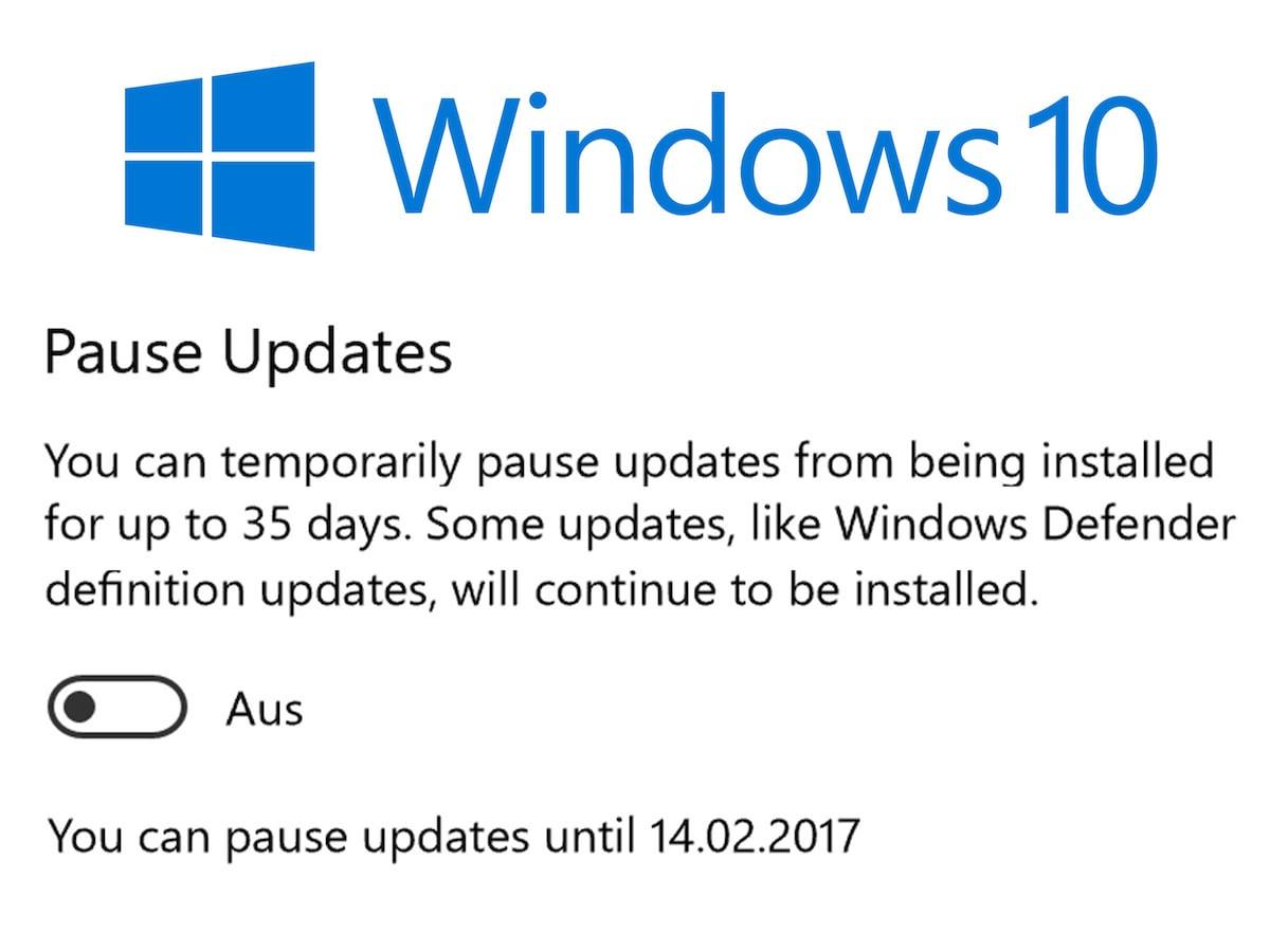 Installation von Windows-Updates um 35 Tage pausieren - teltarif.de News