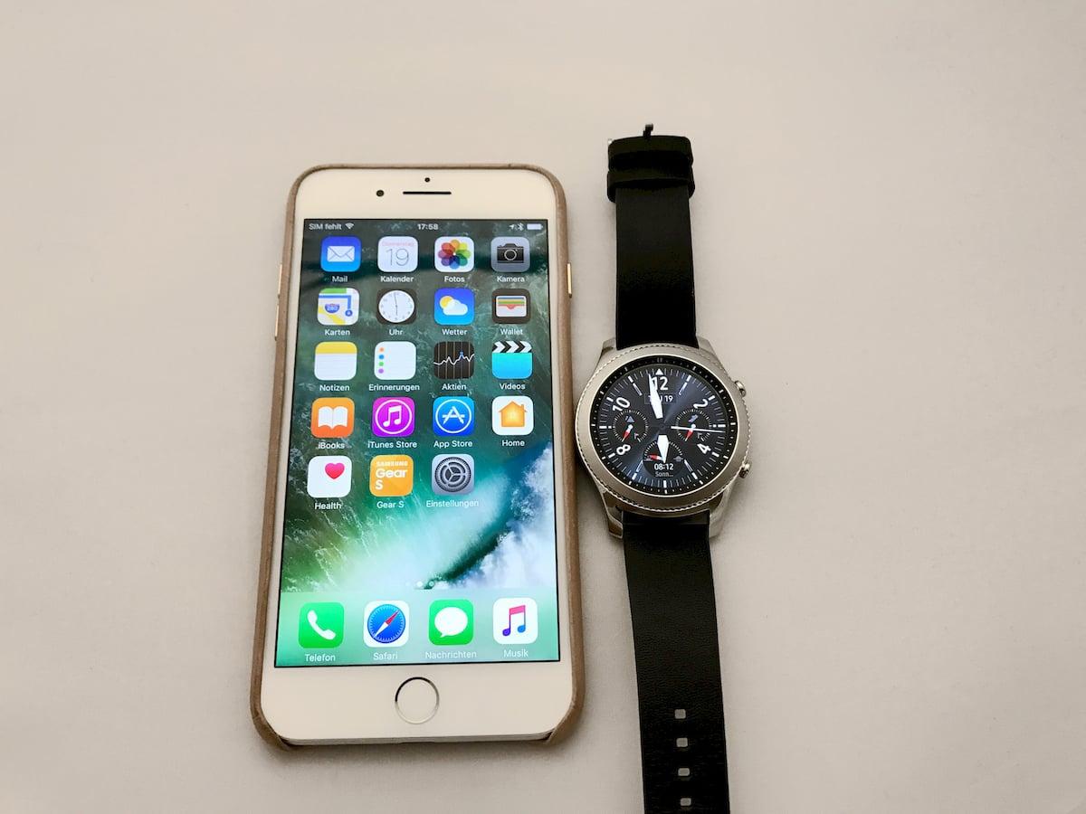 quality design 9092a 8e216 Samsung Gear S3 am iPhone 7 Plus ausprobiert - teltarif.de News