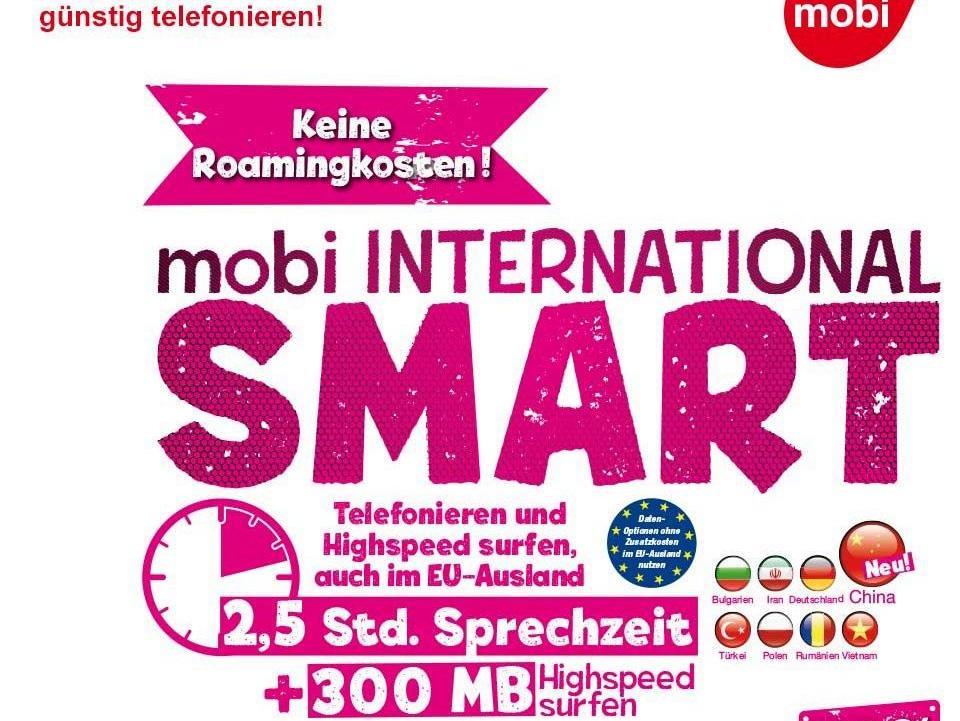 Mobi 150 Minuten Ins Ausland Und 300 Mb In Der Eu Unter 10 Euro