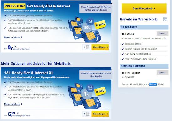 1 1 Nano Sim Karte Bestellen Kosten.1 1 Bis Zu Vier Sim Karten Ohne Grundgebühr Mit Festnetz Flat
