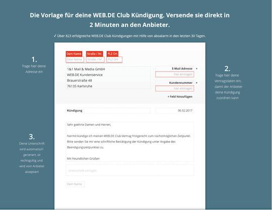 web. de club