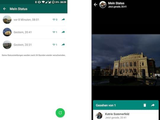 Erste Eindrücke: Das neue WhatsApp Status-Feature in