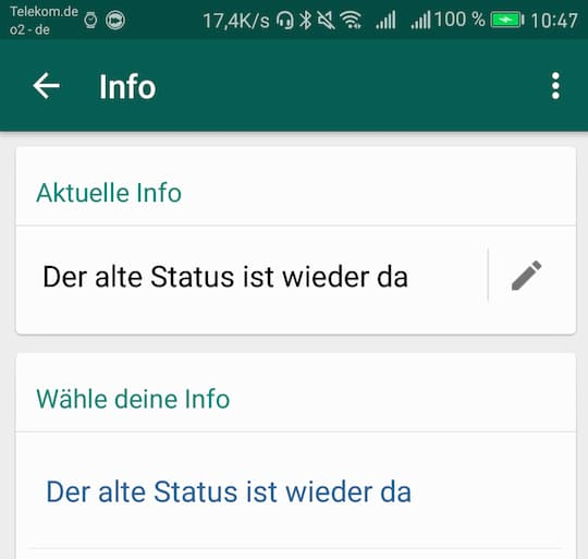 Whatsapp Alter Status Ab Sofort Wieder Verfügbar Teltarif