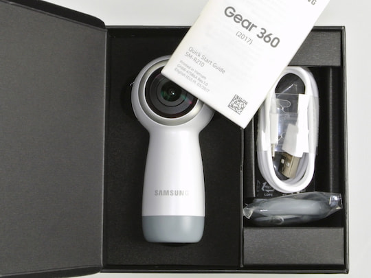 Kamera Im Unboxing Samsung Gear 360 2017 Hat Den Rundumblick