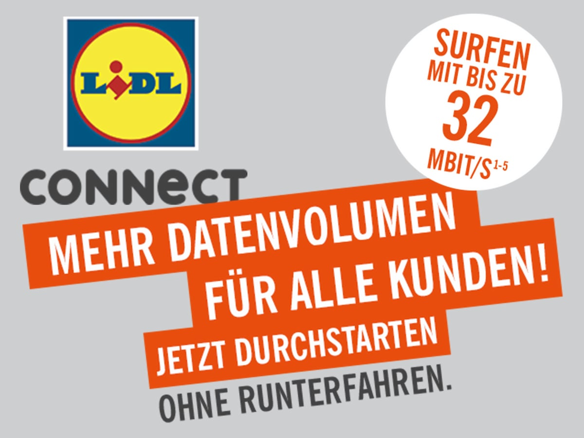 lidl connect mehr datenvolumen in allen tarifen news. Black Bedroom Furniture Sets. Home Design Ideas