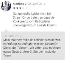 Rezension und Feedback im Google Play Store