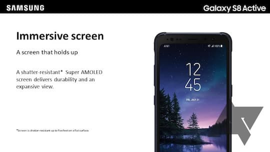 Galaxy S8 Active: bruchsicheres Display inklusive