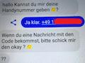Der betrügerische Chat auf dem Facebook-Messenger
