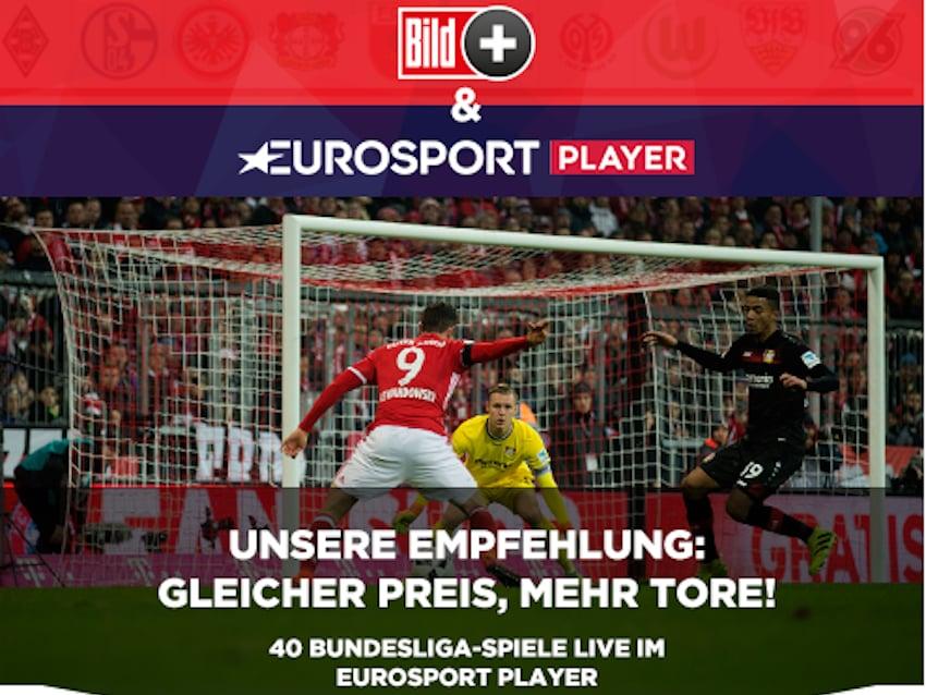 Kooperation mit eurosport bundesliga live bei bildplus for Bundesliga live