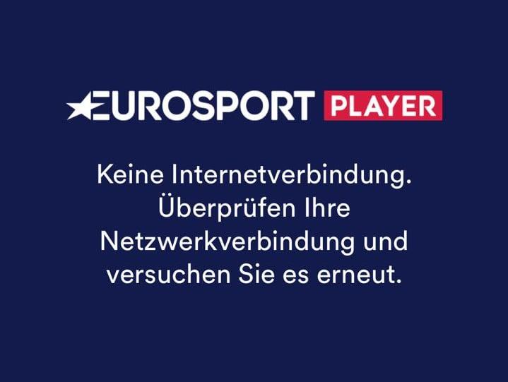 Eurosport Player Störung