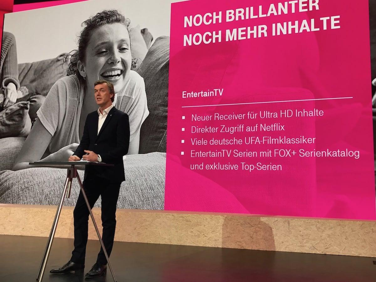 Telekom Startet Mit Entertaintv In Uhd Auch Netflix Mit Dabei