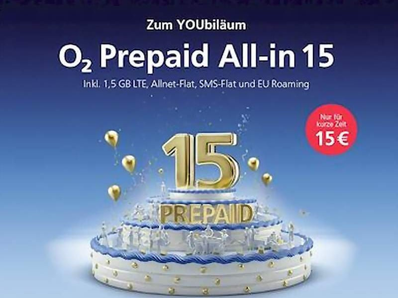 o2 prepaid allnet flat mit 1 5 gb weiter f r 15 euro news. Black Bedroom Furniture Sets. Home Design Ideas