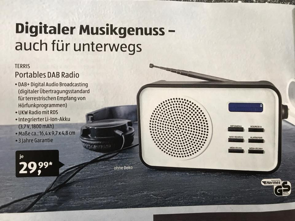erstmals kompaktes dab radio bei aldi s d news. Black Bedroom Furniture Sets. Home Design Ideas