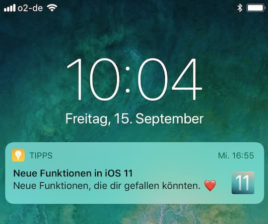 iOS 11 auf dem iPhone 7 Plus