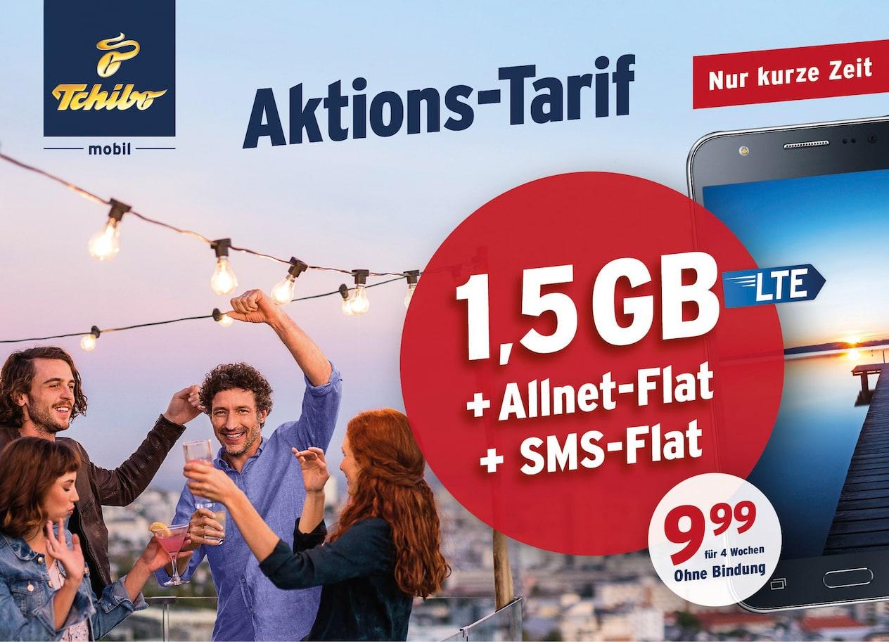 Tchibo mobil mit neuer Aktion Allnet Flat & 1,5 GB Internet Flat mit LTE   teltarif.de News