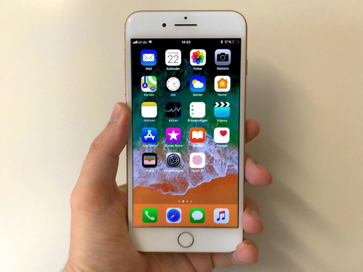 apple iphone 8 plus im ersten hands on test news. Black Bedroom Furniture Sets. Home Design Ideas
