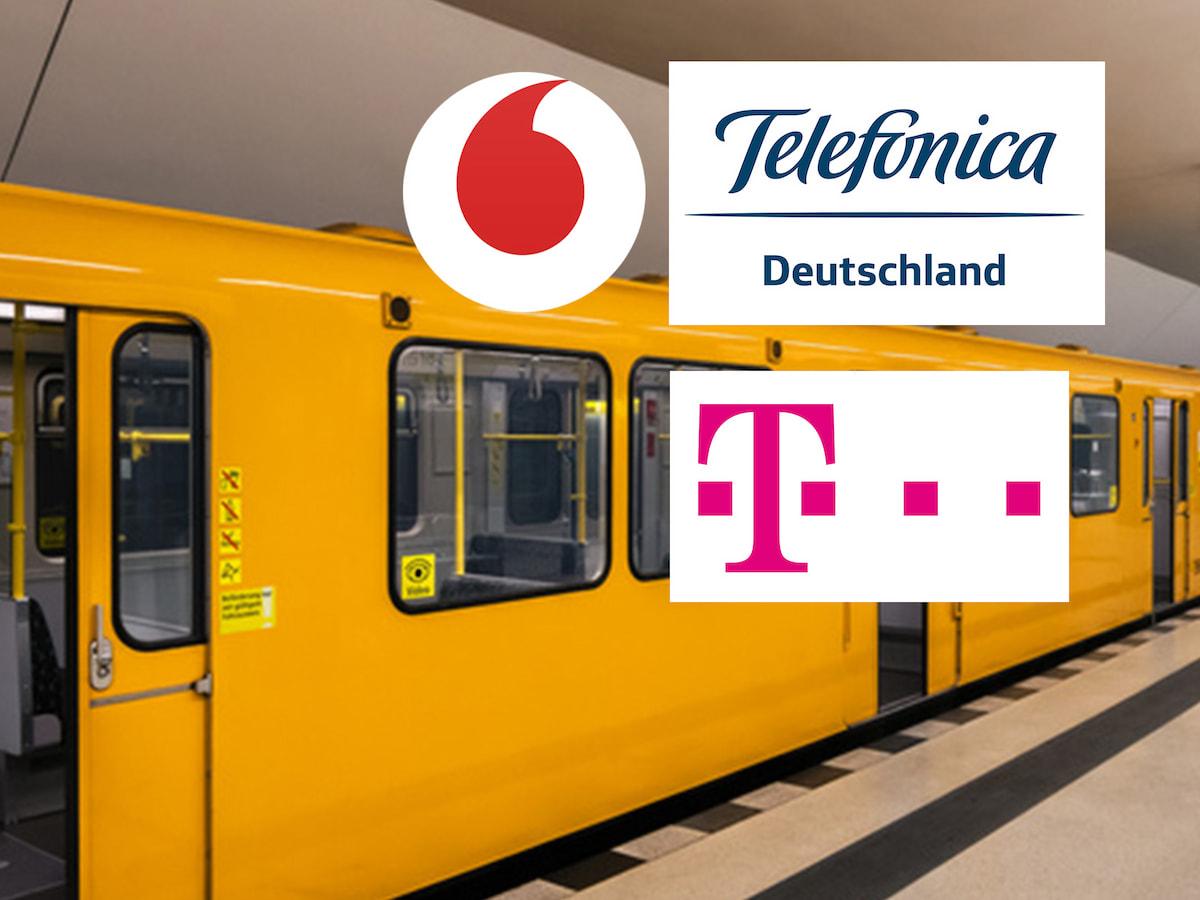 telekom vodafone telef nica 4g mobilfunknetz der berliner u bahn news. Black Bedroom Furniture Sets. Home Design Ideas