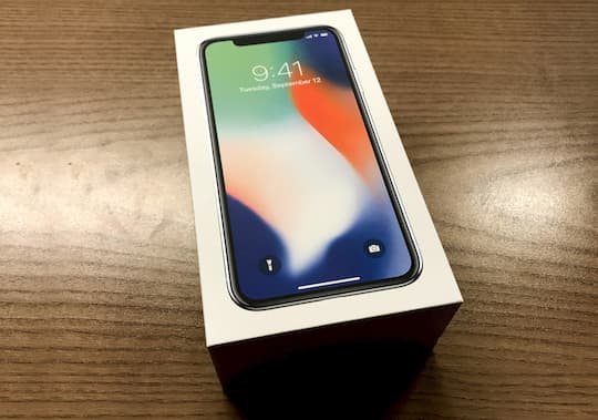 iPhone X in der Redaktion angekommen
