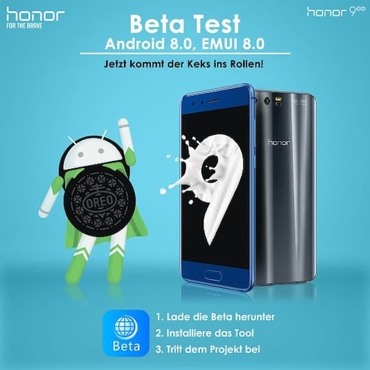 Honor sucht Beta-Tester für Android 8.0 Oreo
