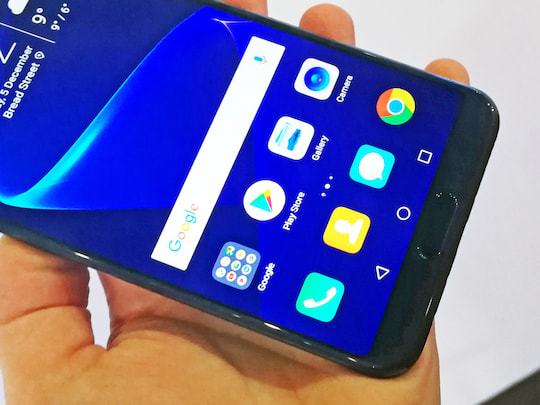 Honor View 10 mit Fingerabdrucksensor