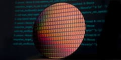 Intel-CPU-Wafer mit sicheren Chips