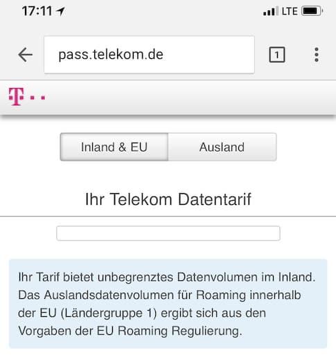 Magentamobil Xl Keine Info Zum Datenverbrauch Im Ausland Teltarif