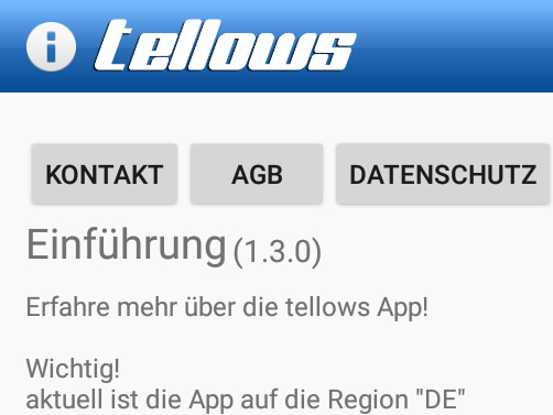 Die aktuelle Version der Tellows-App