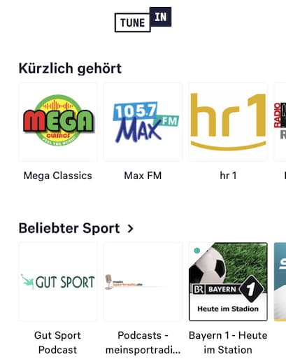 TuneIn Radio: Aufnahme-Stopp für neue Programme - teltarif