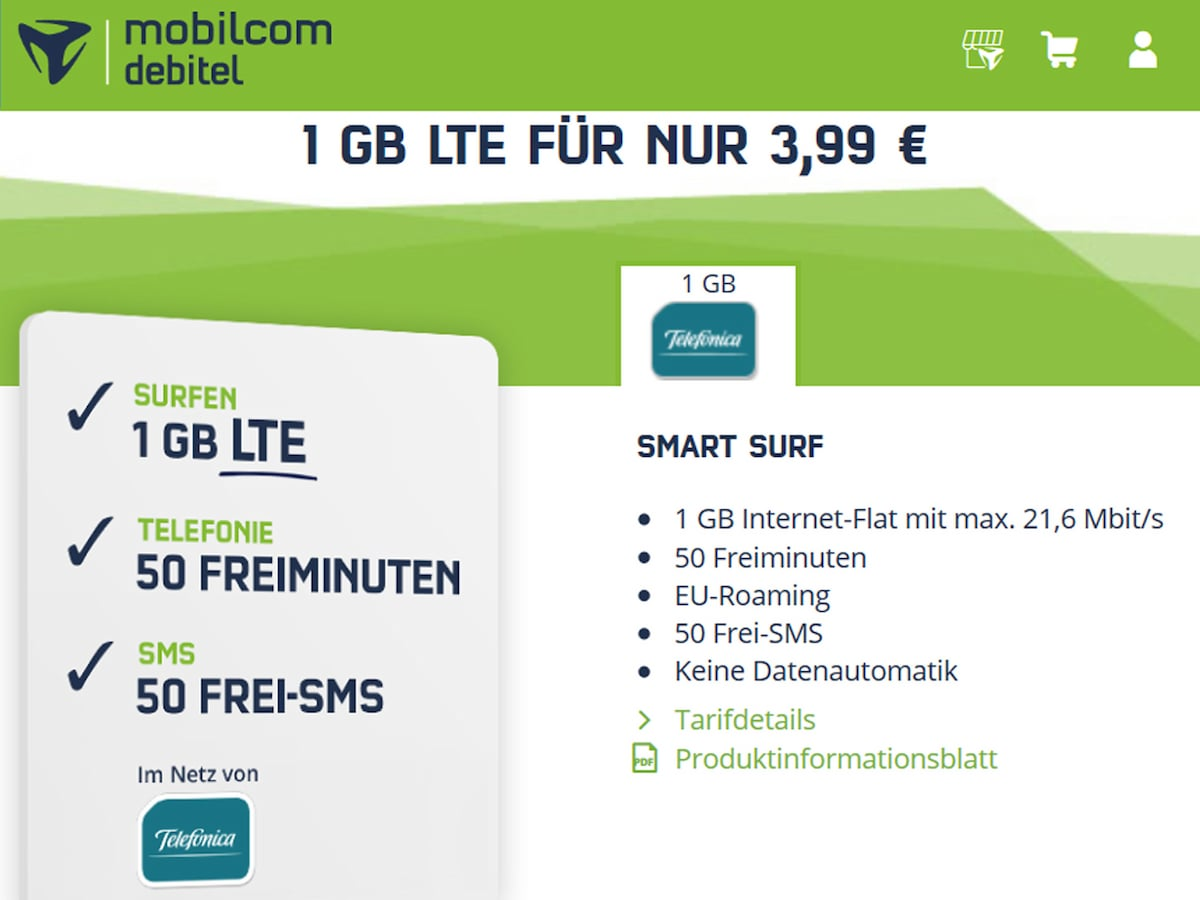 smartphone tarif mit 1 gb und lte f r unter 4 euro. Black Bedroom Furniture Sets. Home Design Ideas