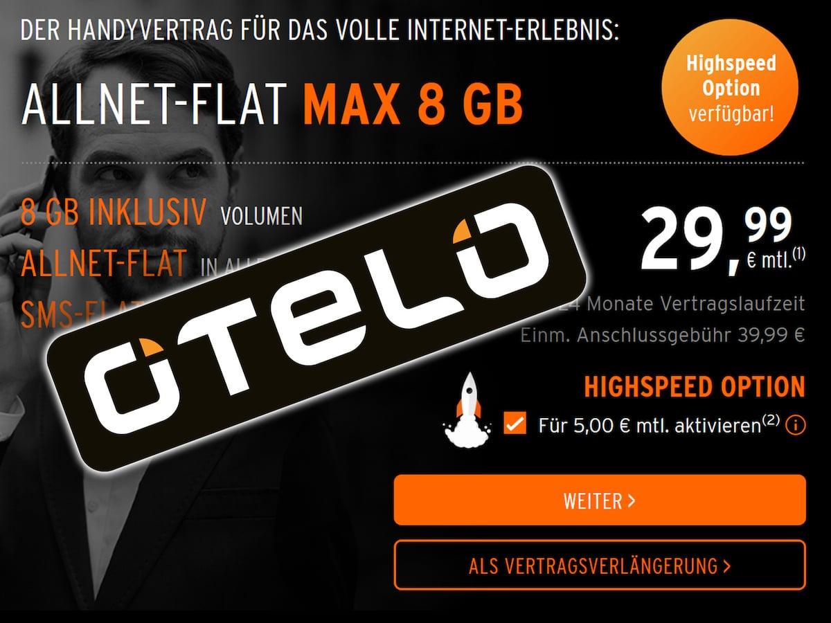 Otelo Sim Karte Aktivieren.Vodafone Netz Allnet Flat Mit 8 Gb Und Lte Für 34 99 Euro
