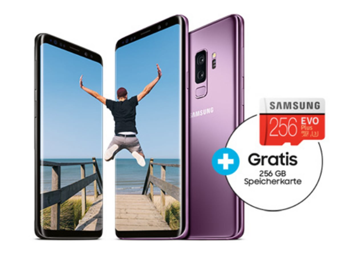 samsung galaxy s9 plus mit gratis 256 gb speicherkarte. Black Bedroom Furniture Sets. Home Design Ideas