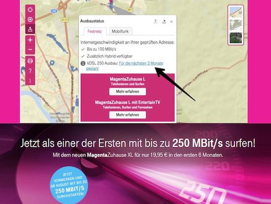 Telekom Dsl Verfügbarkeit Karte.Super Vectoring Ausbau Pläne Der Telekom Abfragbar Teltarif De News
