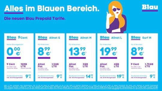 Blau Sim Karte Funktioniert Nicht.Blau Startet Neue Prepaid Allnet Flatrates Ab 8 99 Euro Teltarif