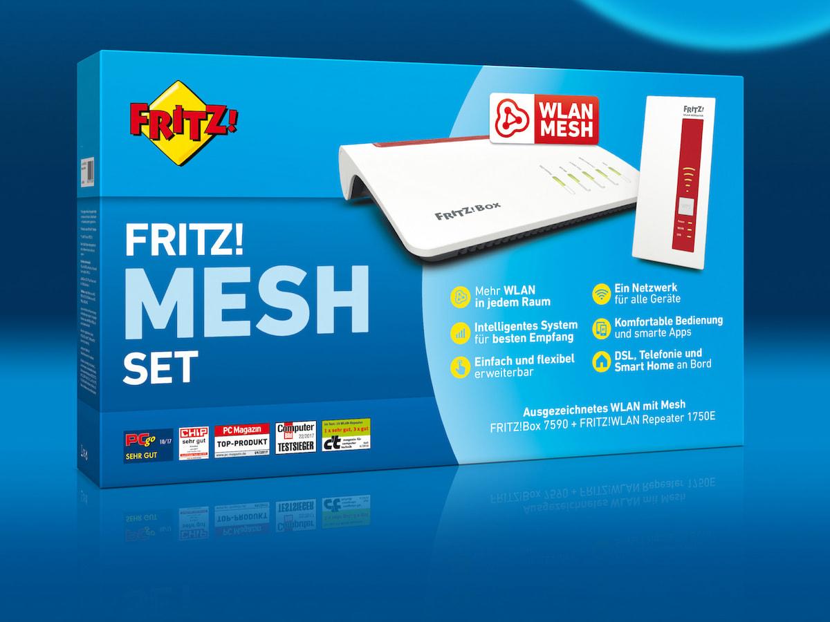 Avm Bringt Mesh Set Aus Fritz Box Und Wlan Repeater Teltarif De News