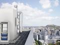 Erisscon 5G-Basisstation zur Outdoor Dachmontage z.B. auf einem Hochhaus