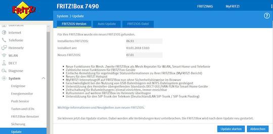 Kurztest Fritz Os 7 Kommt Auf Fritz Box 7490 Teltarif De News