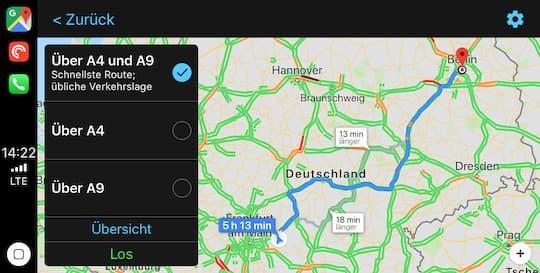 Ausprobiert Google Maps Mit Apple Carplay Unter Ios 12 8 14