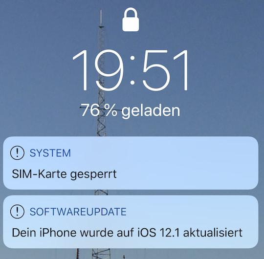 Sim Karte Gesperrt Iphone.Dual Sim Und Esim Beim Iphone Xs Max Ausprobiert Teltarif