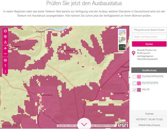 Telekom Dsl Verfügbarkeit Karte.Netzabdeckung Karten Und Realität Im Vergleich Teltarif De News